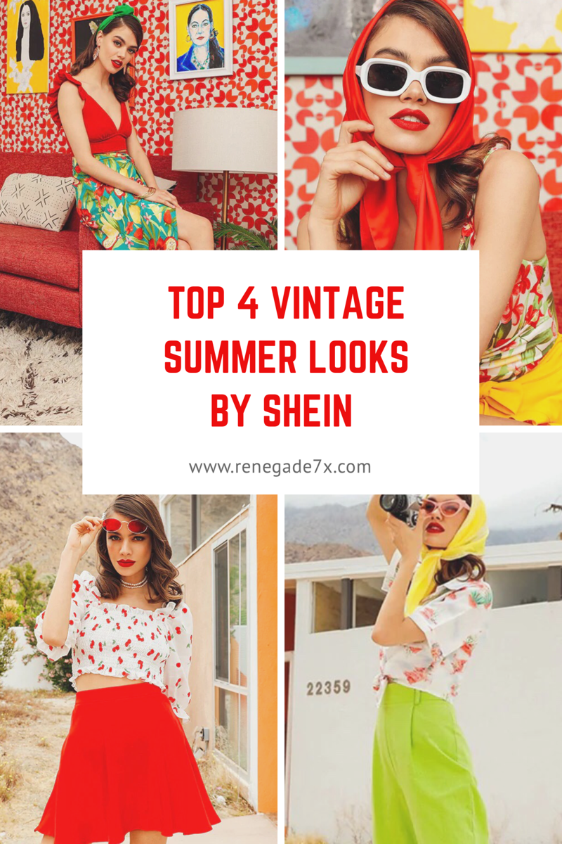 Top 4 vintage summer looks by Shein