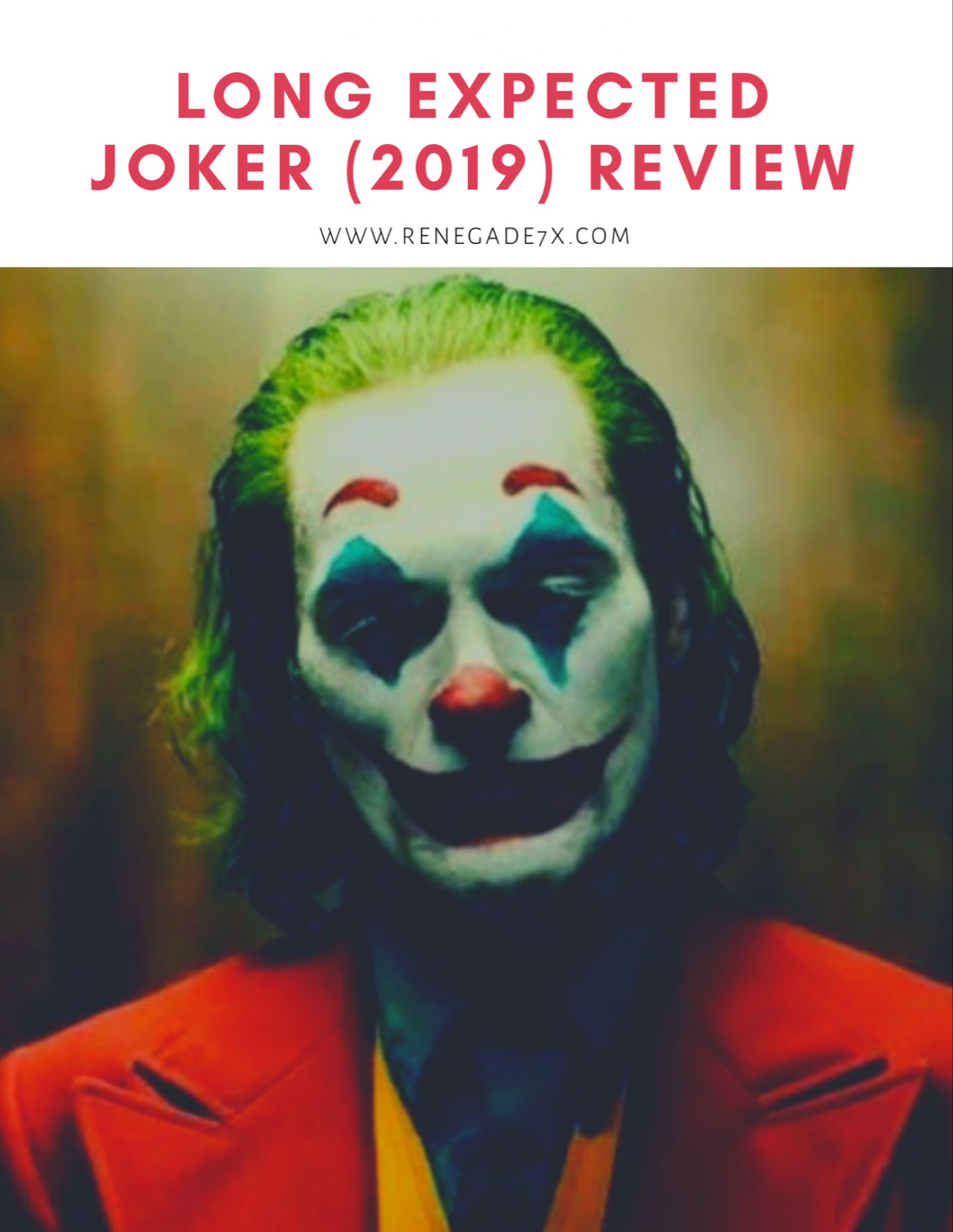 Long expected Joker (2019) review