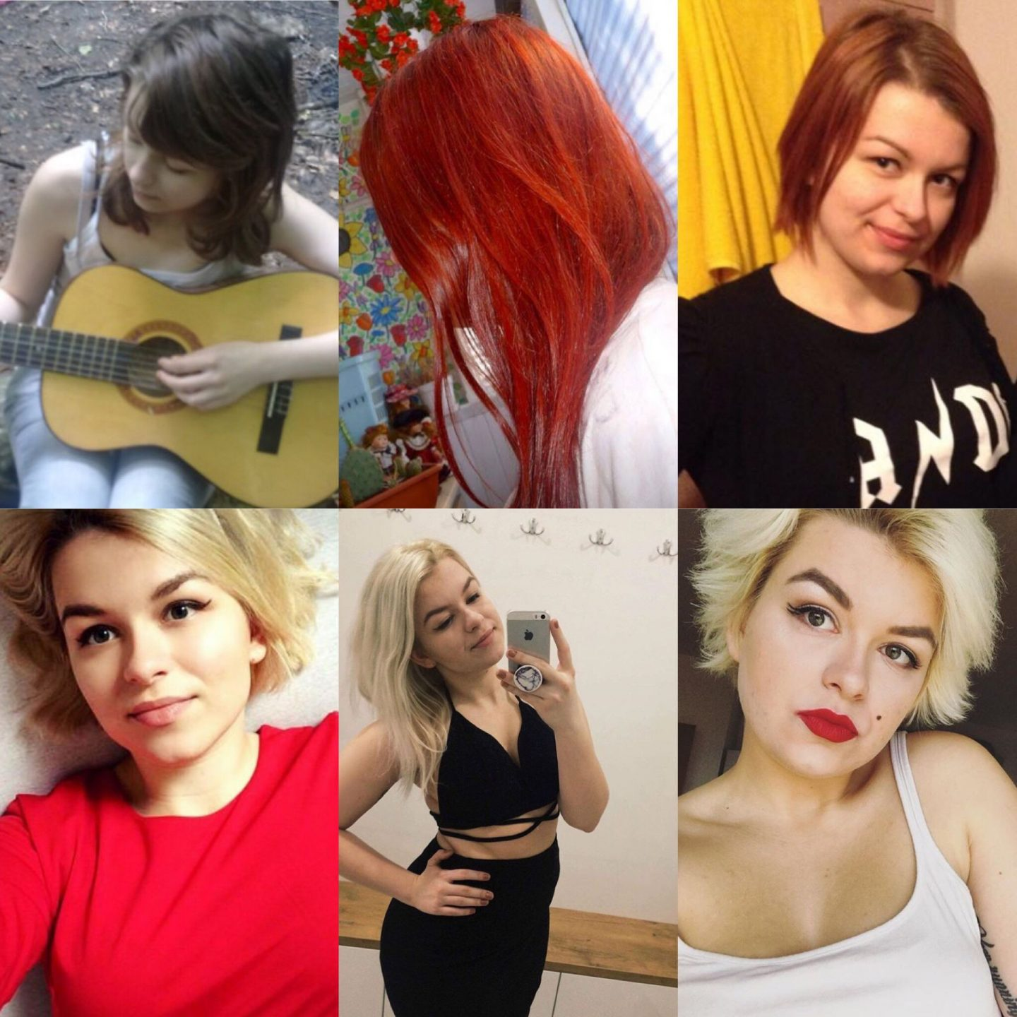 All of my hairstyles